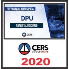 DPU - ANALISTA DA DEFENSORIA PÚBLICA DA UNIÃO - DPU (CERS 2020)
