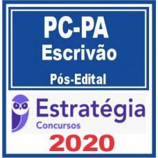 ESCRIVÃO PC PA (POLICIA CIVIL DO PARÁ - PCPA) PÓS EDITAL - ESTRATEGIA 2020