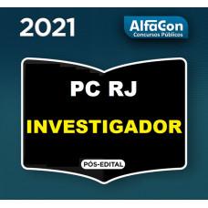 INVESTIGADOR PCRJ PÓS EDITAL -  POLÍCIA CIVIL DO RIO DE JANEIRO PC RJ - INTENSIVO 2021 - ALFACON