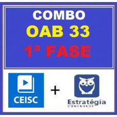 COMBO - OAB 1ª FASE XXXIII (33)  -  ESTRATÉGIA + CEISC  ( CURSOS PARA O XXXIII EXAME DE ORDEM - 2021)
