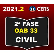 2ª (segunda) Fase OAB XXXIII (33º Exame) - DIREITO CIVIL - CERS 2021