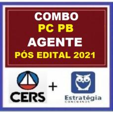COMBO - AGENTE PCPB - PÓS EDITAL - POLÍCIA CIVIL DA PARAÍBA - PC PB - CERS + ESTRATÉGIA 2021.2