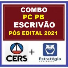 COMBO - ESCRIVÃO PCPB - PÓS EDITAL - POLÍCIA CIVIL DA PARAÍBA - PC PB - CERS + ESTRATÉGIA 2021.2