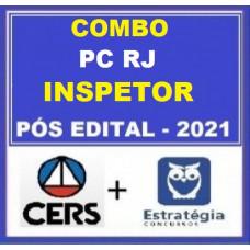 COMBO - INSPETOR PC RJ - PÓS EDITAL - POLICIA CIVIL DO RIO DE JANEIRO - PCRJ - CERS + ESTRATÉGIA 2021.2