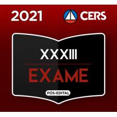 RATEIO OAB  XXXIII (33) - CERS PREPARAÇÃO ANTECIPADA  PARA 1ª FASE DO XXXIII EXAME DE ORDEM
