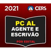 PC AL - AGENTE E ESCRIVÃO DA POLÍCIA CIVIL DE ALAGOAS - PCAL - CERS 2021 - PÓS EDITAL