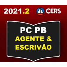 PC PB - AGENTE E ESCRIVÃO DA POLÍCIA CIVIL DA PARAÍBA - PCPB- CERS 2021.2 - PÓS EDITAL