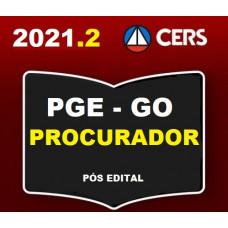 PGE - GO PROCURADOR DO ESTADO DE GOIÁS - PGE GO - PÓS EDITAL - RETA FINAL - CERS 2021.2