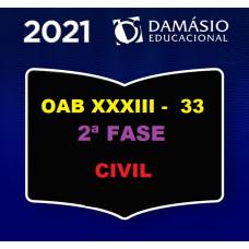 2ª (segunda) Fase OAB XXXIII (33º Exame) - DIREITO CIVIL - DAMÁSIO 2021