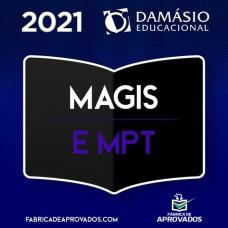 MAGISTRATURA DO TRABALHO E MPT - JUIZ E PROCURADOR DO TRABALHO - DAMÁSIO 2021