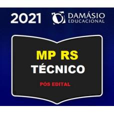 MPRS - TÉCNICO DO MINISTÉRIO PÚBLICO DO RIO GRANDE DO SUL - MP RS - PÓS EDITAL - DAMÁSIO 2021