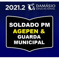 REGULAR PARA SOLDADO DA POLÍCIA MILITAR - PM - POLICIA PENAL (AGEPEN) E GUARDAS MUNICIPAIS - DAMÁSIO 2021.2 - SEGUNDO SEMESTRE