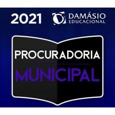 PROCURADORIA MUNICIPAL - PROCURADOR - PGM - TEORIA + PRÁTICA - DAMÁSIO 2021