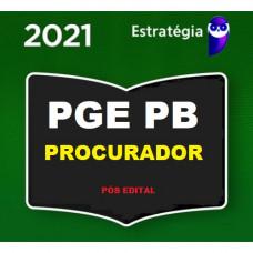 PGE - PB PROCURADOR DO ESTADO DA PARAÍBA - PGE PB - PÓS EDITAL - ESTRATÉGIA 2021