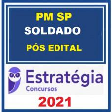 PM SP - SOLDADO - PMSP - PACOTE COMPLETO - ESTRATÉGIA 2021 - PÓS EDITAL