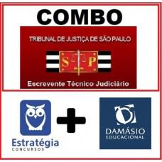 COMBO - TJ SP - PÓS EDITAL - ESCREVENTE JUDICIÁRIO - TJSP - ESTRATEGIA + DAMÁSIO 2021