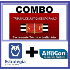 COMBO - TJ SP - PÓS EDITAL - ESCREVENTE JUDICIÁRIO - TJSP - ESTRATEGIA + ALFACON 2021
