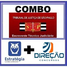 COMBO - TJ SP - PÓS EDITAL - ESCREVENTE JUDICIÁRIO - TJSP - ESTRATEGIA + DIREÇÃO 2021