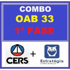 COMBO - OAB 1ª FASE XXXIII (33)  -  ESTRATÉGIA + CERS 8 em 1 ( CURSOS PARA O XXXIII EXAME DE ORDEM - 2021)