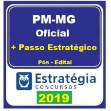 PM MG - CURSO PARA OFICIAL DA POLICIA MILITAR DE MINAS GERAIS - PMMG  + PASSO ESTRATÉGICO - ESTRATEGIA - 2019