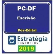 PC DF - CURSO ESCRIVÃO DA POLICIA CIVIL DO DISTRITO FEDERAL - PCDF - PÓS EDITAL - ESTRATEGIA - 2019