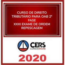 2ª (segunda) Fase OAB XXXI (31º Exame) DIREITO TRIBUTÁRIO - CERS 2020