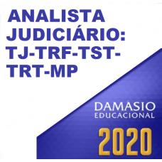 ANALISTA DE TRIBUNAIS FULL (DAMÁSIO 2020) TJ TRF TRT TST MP