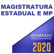 MAGISTRATURA E MP ESTADUAIS (DAMÁSIO 2020)