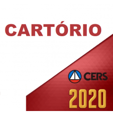 CARTÓRIOS – OBJETIVA, SUBJETIVA E ORAL – OUTORGA DE SERVIÇOS NOTARIAIS (CERS 2020) SERVENTIAS
