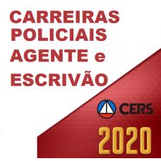 CARREIRAS POLICIAIS – ESCRIVÃO, AGENTE E PERITO (CERS 2020)