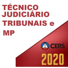 TÉCNICO DOS TRIBUNAIS – JUDICIÁRIO E MINISTERIAL (CERS 2020)
