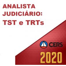 ANALISTA JUDICIÁRIO DE TRIBUNAIS DO TRABALHO (CERS 2020) - TST - TRTs