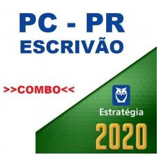 PC PR - ESCRIVÃO - POLÍCIA CIVIL DO PARANÁ - TEORIA + PASSO ESTRATÉGICO PCPR - ESTRATÉGIA 2020