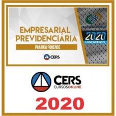 CURSO DE PRÁTICA JURÍDICA - EMPRESARIAL E PREVIDENCIÁRIA  (CERS 2020)