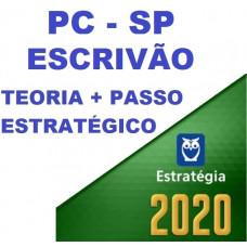 ESCRIVÃO PC SP (POLICIA CIVIL DE SÃO PAULO - PCSP) TEORIA + PASSO ESTRATÉGICO - ESTRATEGIA 2020