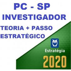 INVESTIGADOR PC SP (POLICIA CIVIL DE SÃO PAULO - PCSP) TEORIA + PASSO ESTRATÉGICO - ESTRATEGIA 2020