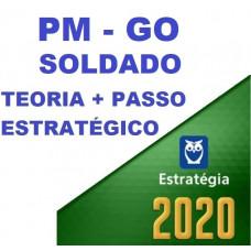 SOLDADO PM GO (POLICIA MILITAR DE GOIÁS - PMGO) TEORIA + PASSO ESTRATÉGICO - ESTRATEGIA 2020