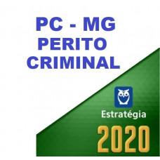 PERITO CRIMINAL - PC MG ( POLÍCIA CIVIL DE MINAS GERAIS - PCMG ) - ESTRATEGIA 2020