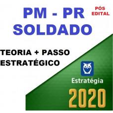 SOLDADO PM PR (POLICIA MILITAR DO PARANÁ - PMPR) TEORIA + PASSO ESTRATÉGICO - ESTRATEGIA 2020 - PÓS EDITAL