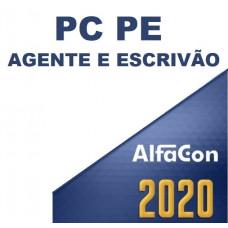 PC PE - AGENTE E ESCRIVÃO PCPE 2020 - ALFACON