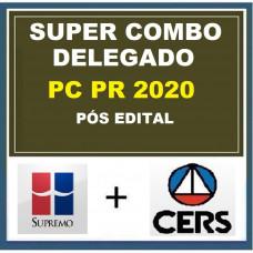 COMBO PC PR - DELEGADO DA POLÍCIA CIVIL DO PARANÁ - PCPR - SUPREMO + CERS - PÓS EDITAL
