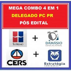 MEGA COMBO 4 EM 1 PC PR - DELEGADO DA POLÍCIA CIVIL DO PARANÁ - PCPR - SUPREMO + CERS + ESTRATÉGIA + DAMÁSIO - PÓS EDITAL