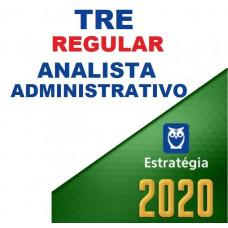 TRE - REGULAR - ANALISTA ADMINISTRATIVO - ESTRATÉGIA 2020