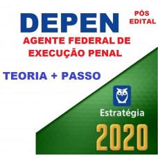 PACOTAÇO - DEPEN - AGENTE FEDERAL DE EXECUÇÃO PENAL - PÓS EDITAL  - TEORIA + PASSO ESTRATÉGICO- ESTRATÉGIA 2020